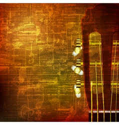 Abstract brown grunge vintage sound background vector