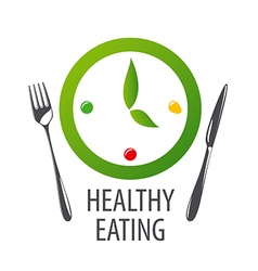 Logo watches for healthy eating vector