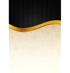 The black celebration paper with golden stripe vector