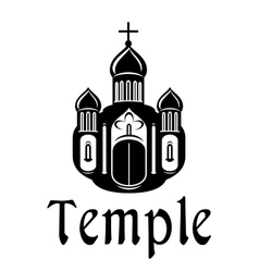 Religious temple or church icon vector