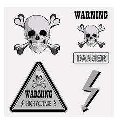Icons warning v vector