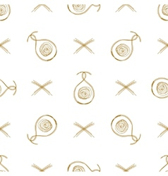 Seamless background straw curls vector