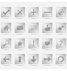 Transparent glass icons vector
