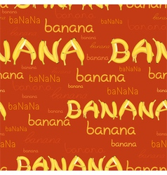 Seamless pattern of bananas and letters vector