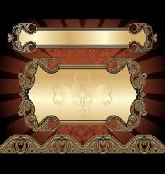 Set of golden frames vector