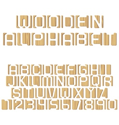 Wooden alphabet vector