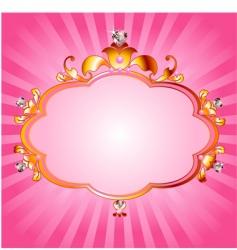 Princess pink frame vector