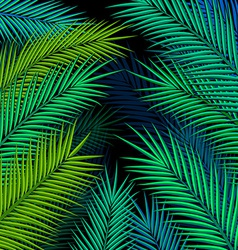 Tropical background with palm leaves vector