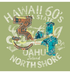 Hawaii surfing vector