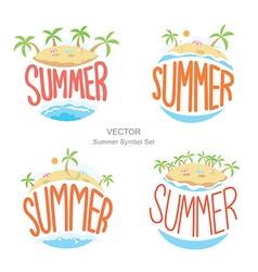 Island summer symbols set vector
