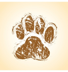 Dog paw vector