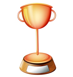 A trophy with an empty label vector