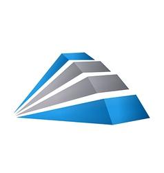 3d building construction abstract logo vector
