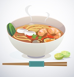 Tom yum noodle vector