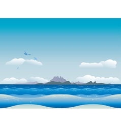 Islands in ocean vector