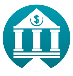 Bank building sign vector