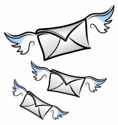 Flying letters vector