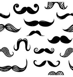 Mustache seamless background vector