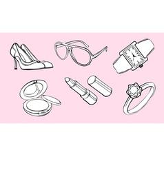 Woman style design elements vector