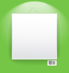 Blank frame on the wall vector