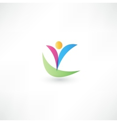 Success people icon vector