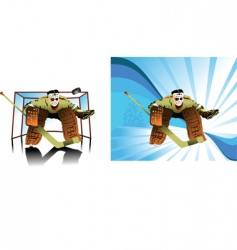 Goalkeeper cartoon vector