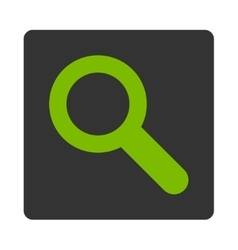 Search flat eco green and gray colors rounded vector