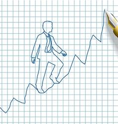 Entrepreneur start up business success vector