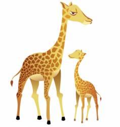Giraffe family vector