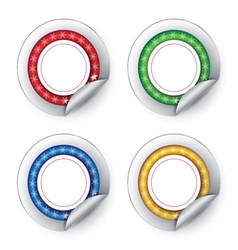 Colorful stickers on white background vector