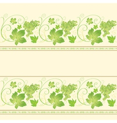 Seamless pattern with grape vector