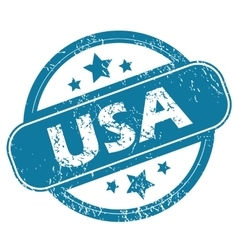 Usa round stamp vector
