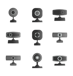 Set icons webcam vector