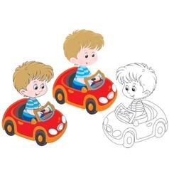 Boy driver vector