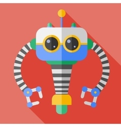 Flat color robot toy vector