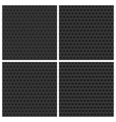 Seamless metal backgrounds set vector