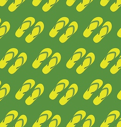 Yellow slippers seamless pattern vector