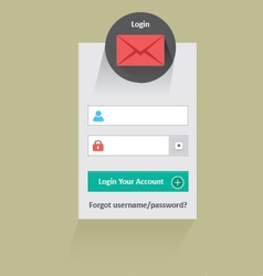Long shadow login vector