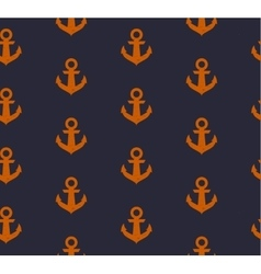 Seamless pattern with anchors in grunge style vector