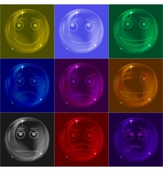 Bubbles smileys colorful vector