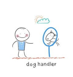 Dog handler vector