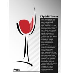 Aperitif menu vector