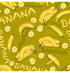 Wallpaper of bananas and letters vector