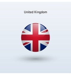 United kingdom round flag vector