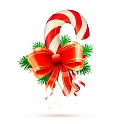 Christmas candy cane vector