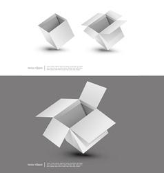 Blank cardboard box vector