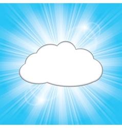 Sun behind the cloud vector
