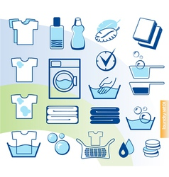 Laundry set vector