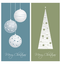 Blue and green christmas card backgrounds vector
