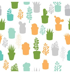Succulent seamless pattern vector